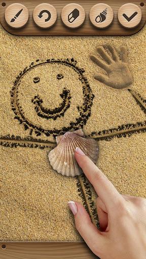 砂の上に描画 - 2 -