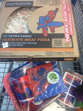 Photo: Yep there is a Spiderman themed pizza box as well.  The sign above the pizza triggered in my app also.