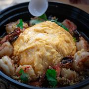 Garlic Shrimp with Rice & Scrambled Egg