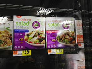 Photo: These Lean Cuisine Salad Additions caught my wife's eye. She likes salad and thought they were a good idea, but we passed on them this time. We will probably try them soon when they go on sale.