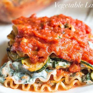 Homemade Vegetarian Lasagna.