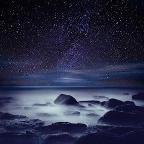 Starry night by Jorge Maia - Landscapes Starscapes
