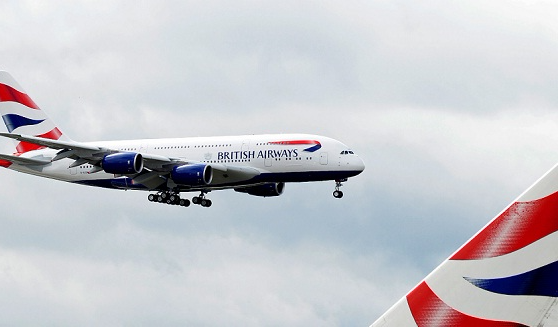 A British Airways Airbus A380 lands at Heathrow airport in London. File picture: REUTERS