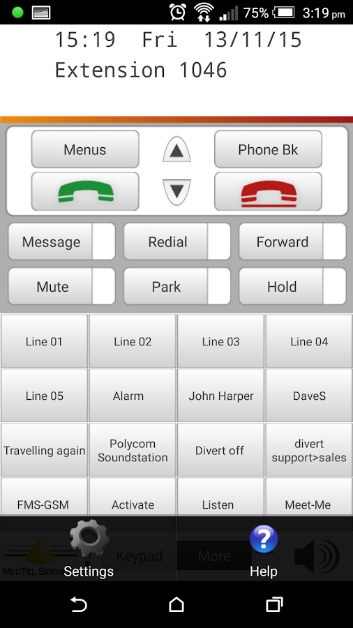 MedTel Phone- screenshot
