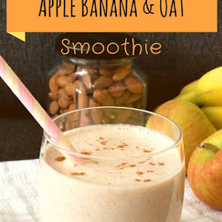 Apple Banana & Oat Smoothie.