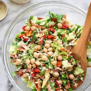 Italian Chopped Salad with Marinated Chickpeas.