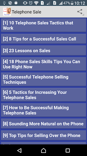 Telephone Sales Tutorial screenshot 1