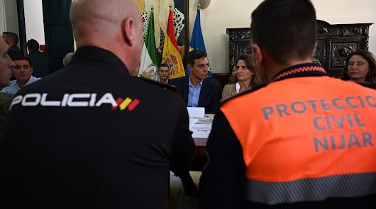 Foto de la reunión de Pedro Sánchez en Níjar facilitada por La Moncloa.
