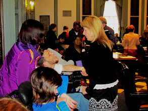 Photo: Rep. Longhurst greets advocates assembled in the House to hear the ADA 25 Proclamation introduced during Disability Day at Legislative Hall on 3.25.15.