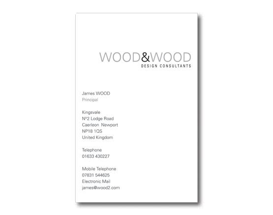 James Wood - Business Card