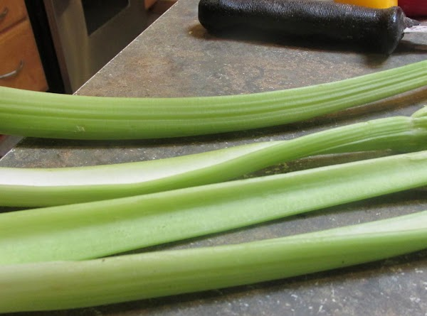 Chop celery and both onions and put into a microwaveable bowl. Add 2 tablespoons...