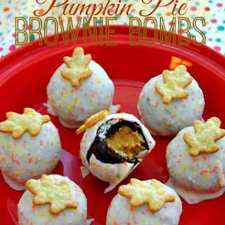 Pumpkin Pie Brownie Bombs.