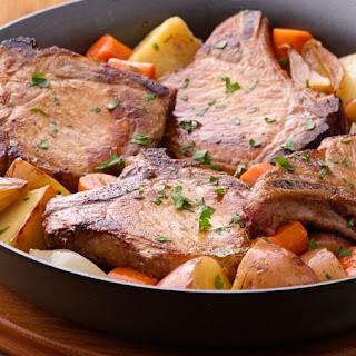 Pork Chop Skillet Dinner.