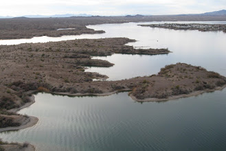 Photo: Look west  with California on the left  and  AZ island on the right