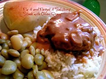 Fix It and Forget It Salisbury Steak w/Onion Gravy