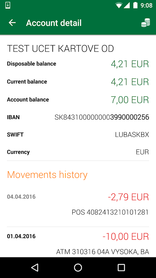 Sberbank SmartBanking- screenshot