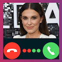 Millie Bobby Brown Video Call Fake Prank icon