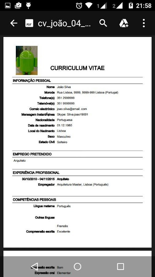 Curriculum vitae europeu ultim android apps on google play curriculum vitae europeu ultim screenshot yelopaper Images