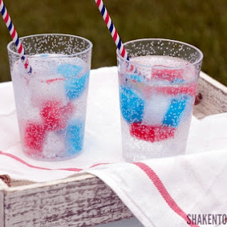 Red, White & Blue Jello Ice Cubes