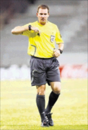 HONOURED: Absa Premiership referee Daniel Bennett will officiate in the CAF Super Cup next month. 01/11/2008. Pic. Carl Fourie.  © Gallo Images.