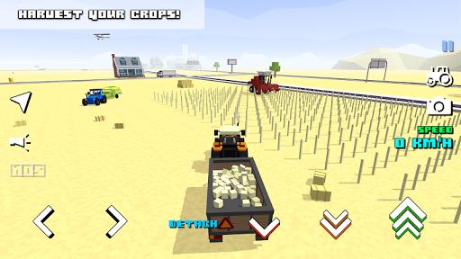 Blocky Farm Racing & Simulator - free driving game screenshots 3