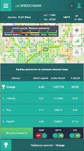 SPEED TEST 4G LTE 3G MAP QoS Screenshot