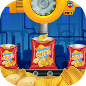 Potato Chips Factory - delicious food cooking chef