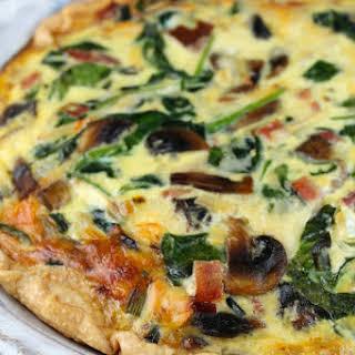 Ham, Spinach & Mushroom Quiche.