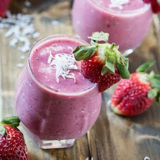 Strawberry Coconut Smoothie.