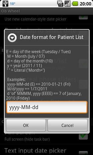 OB Wheel (Pregnancy calculator) 10.1.0 (2019-11-10) - export date format bug fix screenshots 6