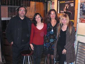 Photo: Roberto Sánchez, Eva Puyo, Azucena y Vicky Calavia