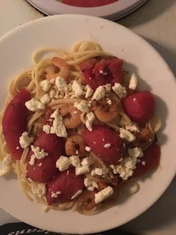 Quick/easy shrimp with linguini