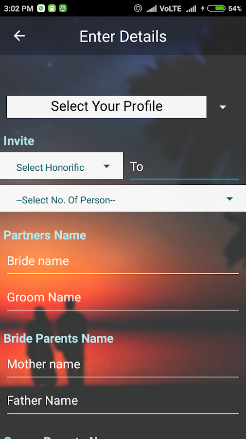 Invitation Card Maker- screenshot