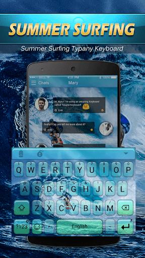 mod Hawaii Summer Surf Emoji Theme 2.5 screenshots 2