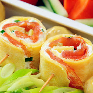 Egg Roll With Smoked Salmon.