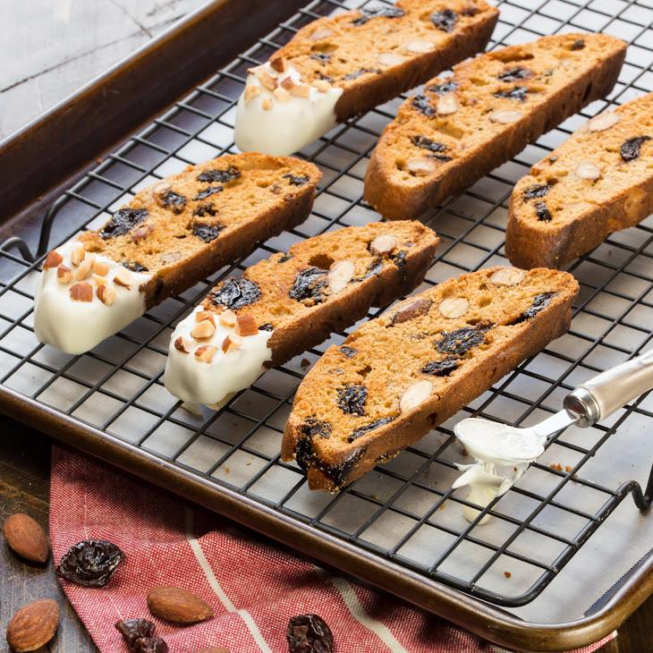 White Chocolate, Cherry and Almond Biscotti Recipe | Yummly
