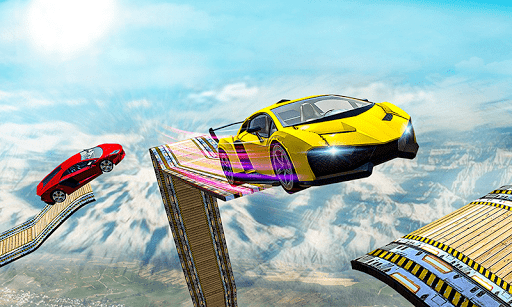Mega Ramp Impossible Car Jump Over The Airplane screenshots 3