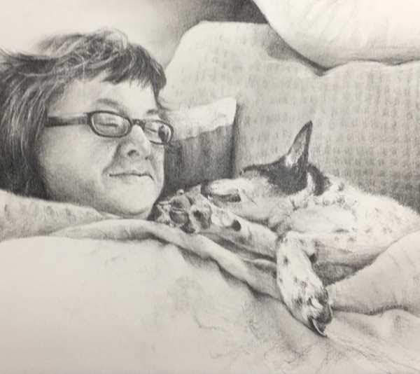 Sample Pet Portrait by kathy Gomric