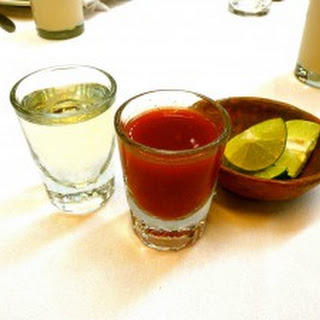 Drinking Tequila with Sangrita.
