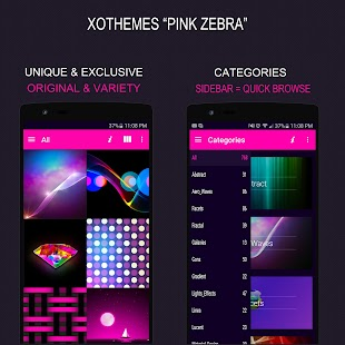 Pink zebra wallpaper and theme- screenshot thumbnail