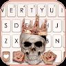 com.ikeyboard.theme.rose.gold.skull