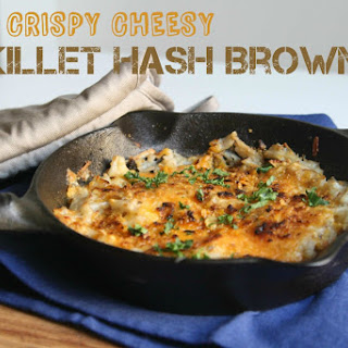 Crispy Cheesy Skillet Hash Browns.