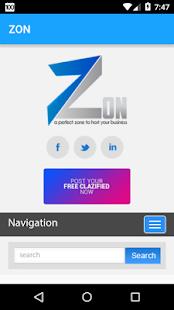 ZON screenshot