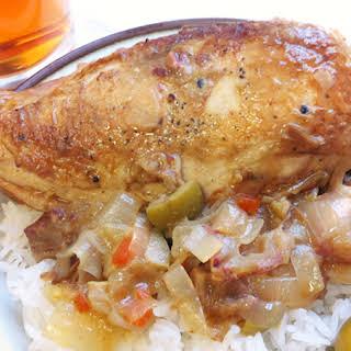 Braised Chicken.