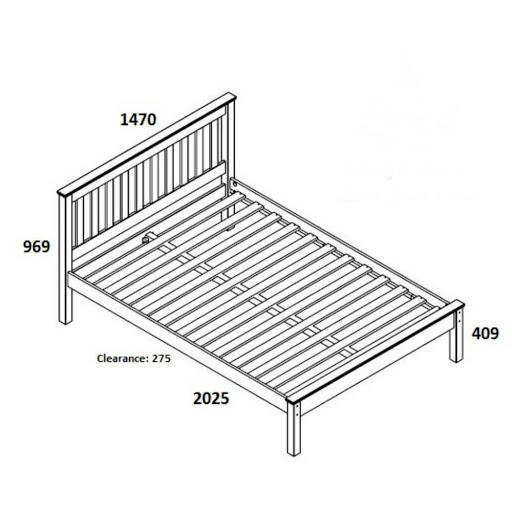 Birlea Denver Pine Bed Frame Double