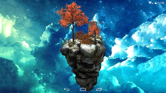 Fly Island Free 3D LWP- screenshot thumbnail