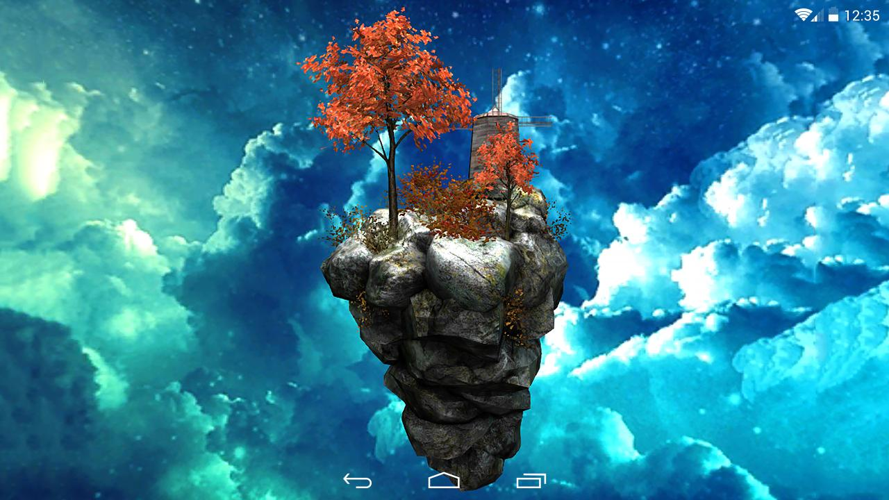 Fly Island Free 3D LWP- screenshot