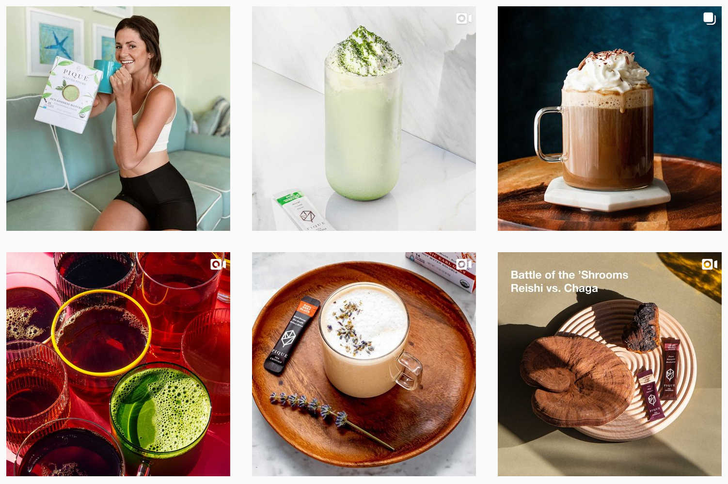 Pique Tea | Instagram Gallery Featuring Various Organic Tea Options