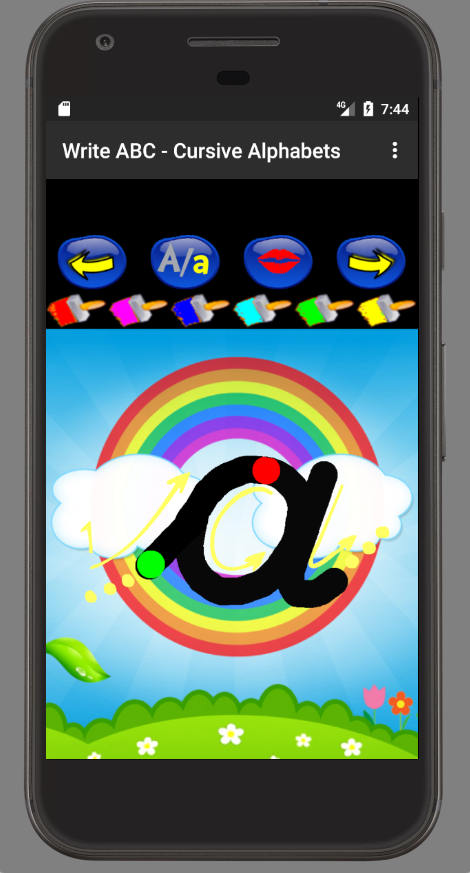 Write ABC - Cursive Alphabets- screenshot