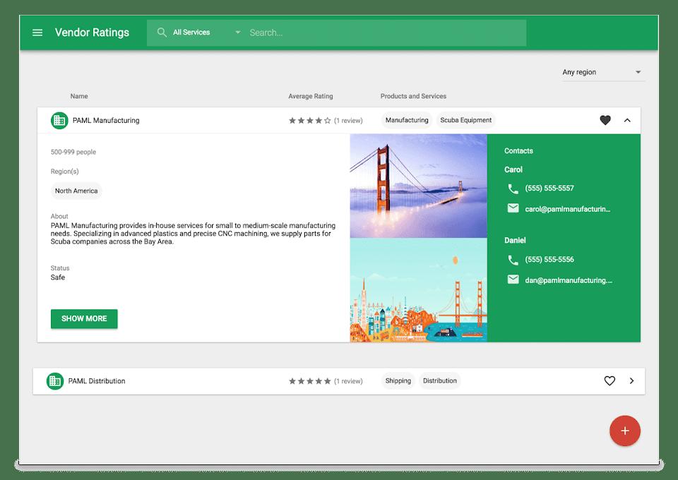 google app maker custom